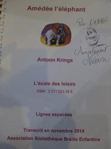 dédicace Antoon Krings